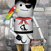 Robo-x9 The Pirate Art Print