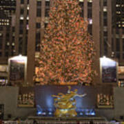 Rockefeller Center And The Famous Print by Taylor S. Kennedy