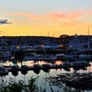 Rockport Harbor Sunset I Art Print