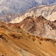 Rocks And Stones Mountains Ladakh Landscape Leh Jammu Kashmir India Art Print