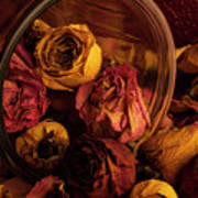 Roses Spilling Out Of Vase Art Print