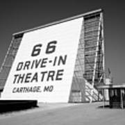 Route 66 - Drive-in Theatre Art Print