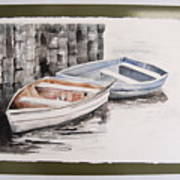 2 Rowboats At Rest Art Print