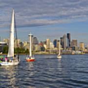 Sailing To Seattle Art Print