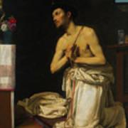 Saint Dominic In Penitence Art Print