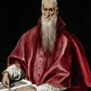 Saint Jerome As Scholar Art Print