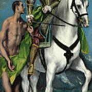 Saint Martin And The Beggar Art Print