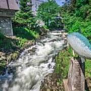 Salmon Hatchery Creek In Mountains Of Alaska Art Print