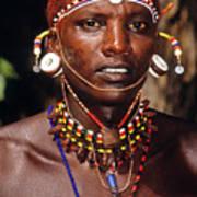 Samburu Warrior Art Print
