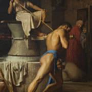 Samson And The Philistines Art Print