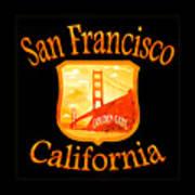 San Francisco California Golden Gate Design Art Print