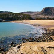 Sand Beach Acadia National Park Art Print