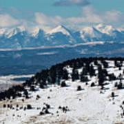 Sangre De Cristo Mountains In Winter Art Print