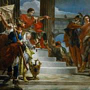 Scipio Africanus Freeing Massiva Art Print