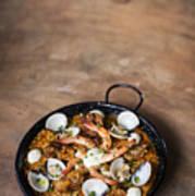 Seafood And Rice Paella Traditional Spanish Food Art Print