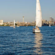 Seattle Sailing Art Print