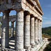 Segesta Greek Temple In Sicily, Italy Art Print