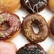 Selection Of Doughnut Art Print