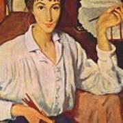Self-portrait Zinaida Serebryakova Art Print