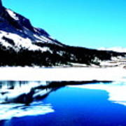 Shiny Snow Magic On Lake Art Print