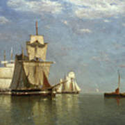 Ships Lying Off Flushing Art Print