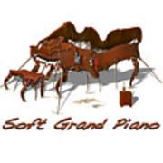 Soft Grand Piano  Art Print