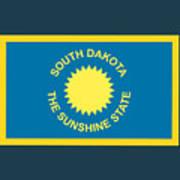 South Dakota Flag Art Print