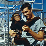 Space: Chimpanzee, 1961 Art Print