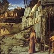 St. Francis In The Desert Art Print