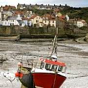 Staithes, North Yorkshire, England Art Print