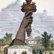 Statue Of Liberty, 1876 Art Print