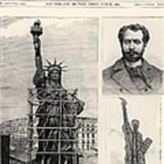 Statue Of Liberty, 1885 Art Print