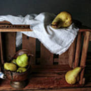 Still-life With Pears Art Print
