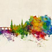 Stirling Scotland Skyline Art Print