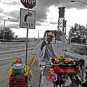 Street Jester Art Print