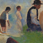 Study For Bathers At Asnieres Art Print