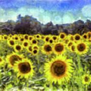 Sunflowers Van Gogh Art Print