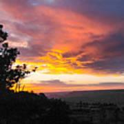 Sunset At Yaki Point Art Print