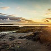 sunset Iceland Art Print
