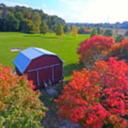 Sunset Hill Farms Indiana  Art Print
