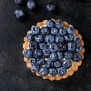 Tartlet With Blueberries Art Print