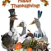 Thanksgiving Ducks Art Print