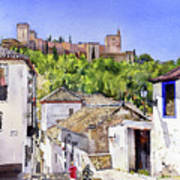 The Alhambra From The Albaicin Art Print