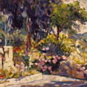 The Flowered Terrace Art Print