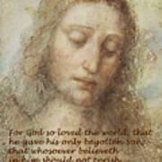 The Head Of Christ Art Print