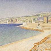 The Jetty At Cassis Opus 198 Art Print