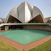 The Lotus Temple In New Delhi Art Print