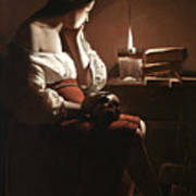 The Magdalen With The Smoking Flame Art Print