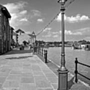 The Promenade At Barton Marina Art Print