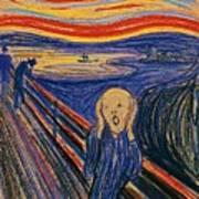 The Scream Ver 1895 Edvard Munch Art Print